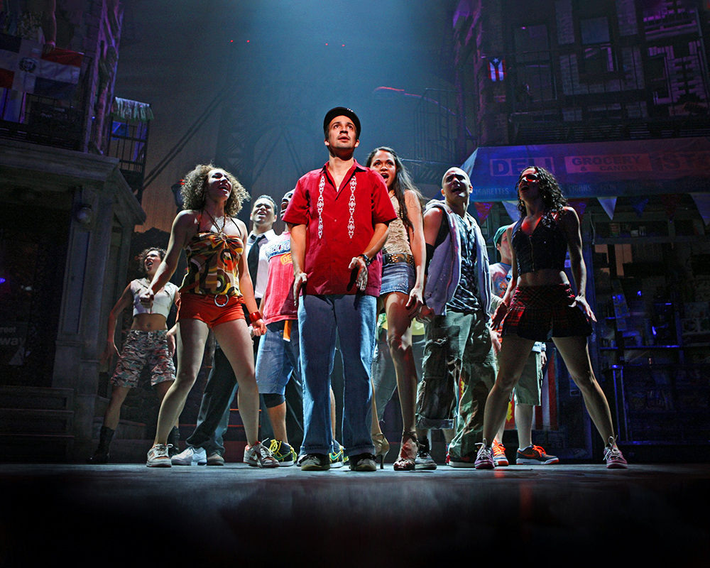 "Lin-Manuel Miranda as ""Usnavi"" and cast 